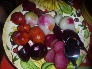 4 different colours of beetroot!